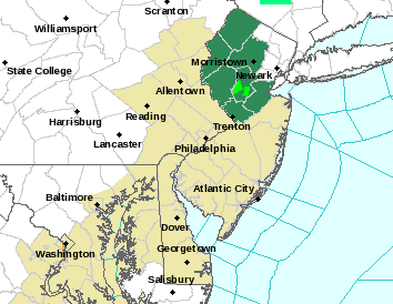 Flash Flood Watch New Jersey Updated
