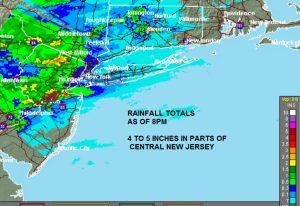 radar Flooding Central New Jersey