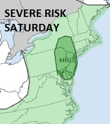 Severe Weather Threat Saturday New Jersey Hudson Valley