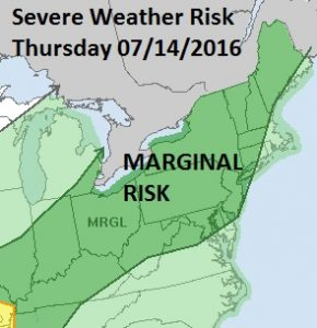 SEVERE WEATHER RISK LATER THURSDAY