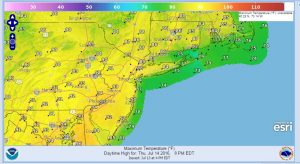 thursday Heat Advisory New Jersey