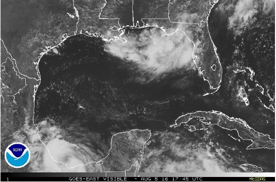 earl gulf of mexico disturbance