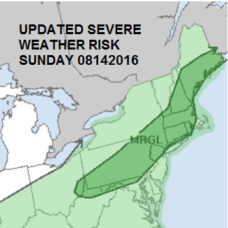 severe thunderstorm risk sunday