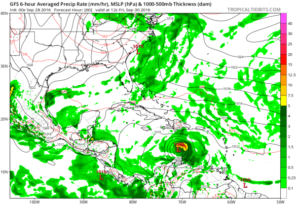 gfs model tropical storm