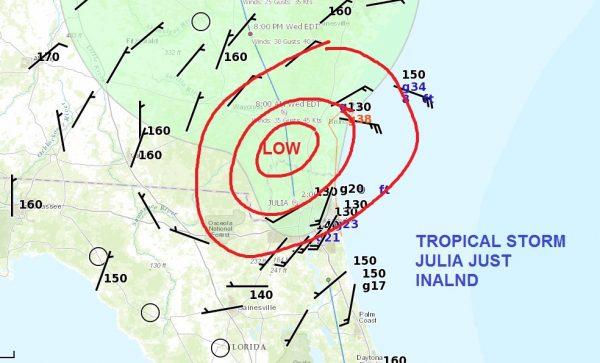 tropcial storm julia