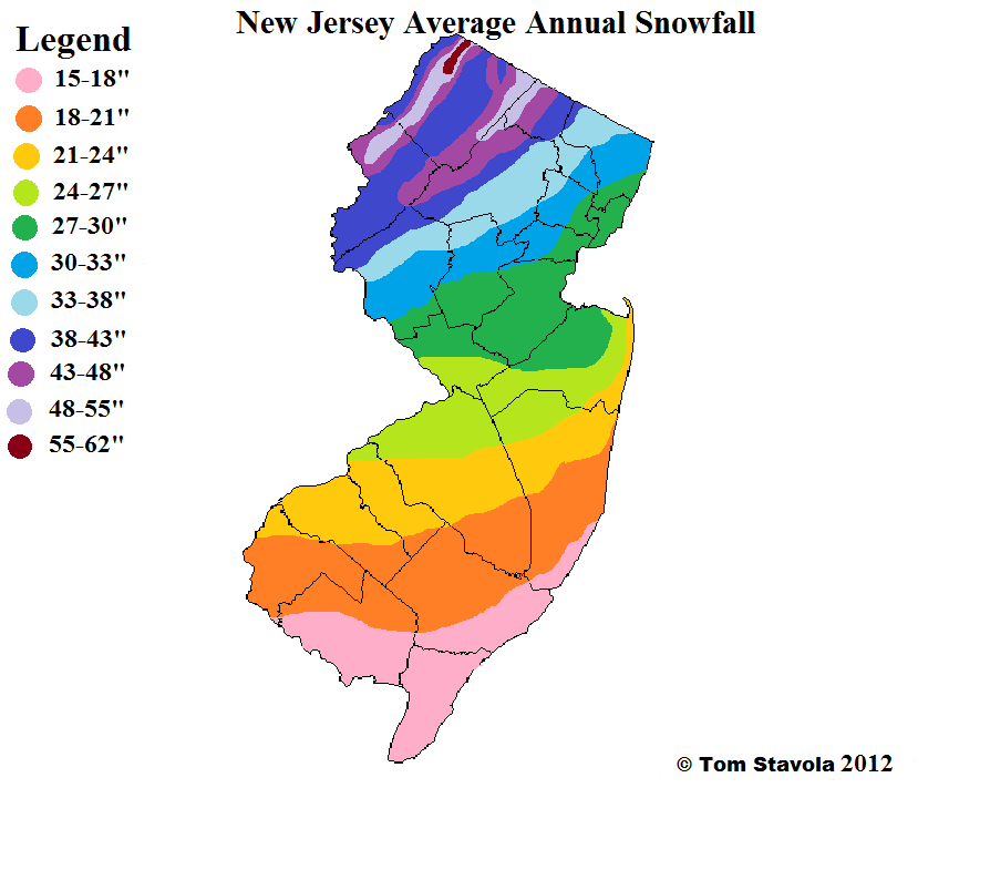 Winter What You Missed Weather Updates By - Us annual snowfall map