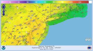 thursday hot humid