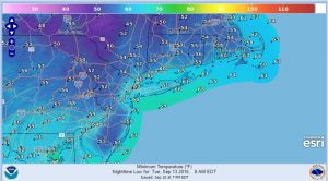 tuesday lower humidity