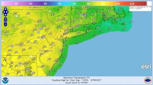 wednesday heat humidity