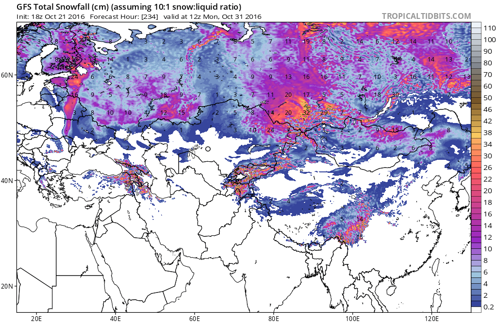 siberian snow cover