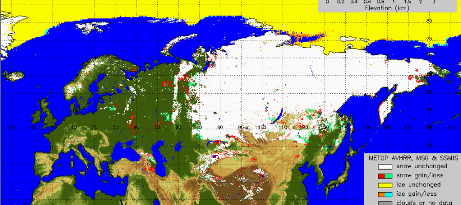 siberian snow cover growth