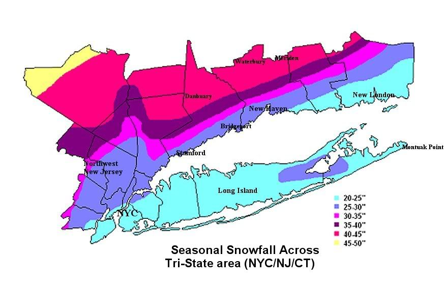 Winter What You Missed Weather Updates By - Average annual snowfall map us