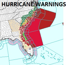 hurricane warnings