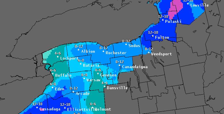 snowfall forecasts