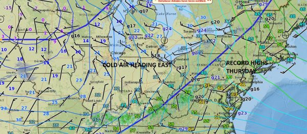 colder air moving east