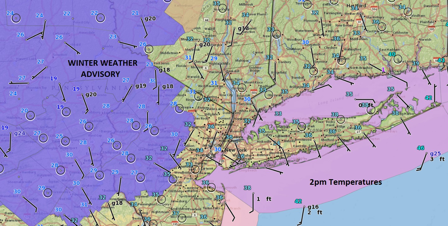 Picture of: Winter Weather Advisory Inland Nj Hudson Valley Eastern Pa Weather Updates 24 7 By Meteorologist Joe Cioffi