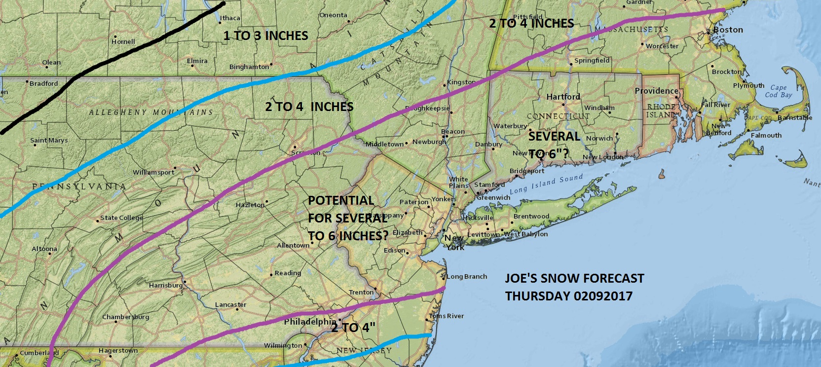 National Weather Service Snow Forecasts Thursday - Us weather map snow forecast