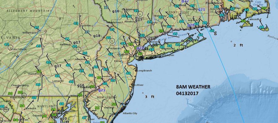surface map easter sunday sunshine