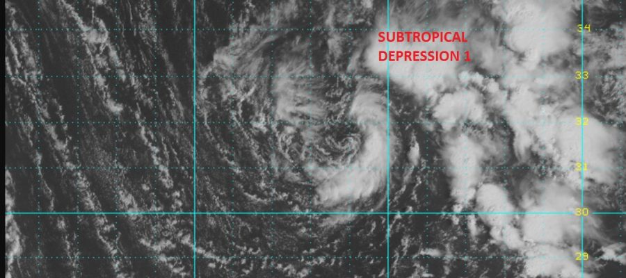 subtropical depression one