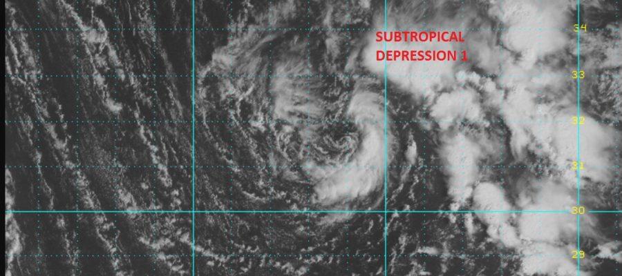 subtropical depression one