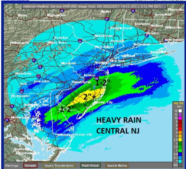 heavy rain central south jersey