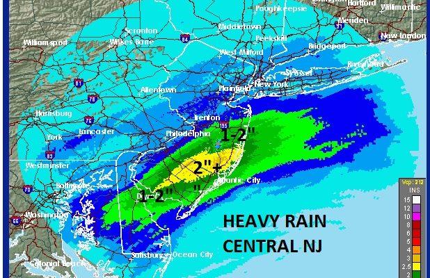 heavy rain central south jersey