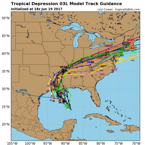 tropical depression 3