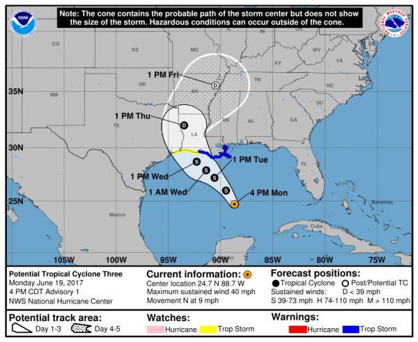 tropical storm brett