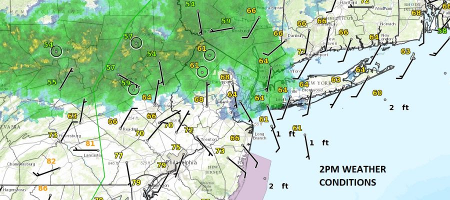 showers moving