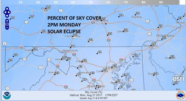 solar eclipse sky cover forecast