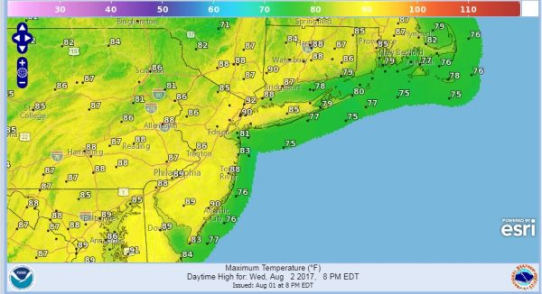 warm humid august