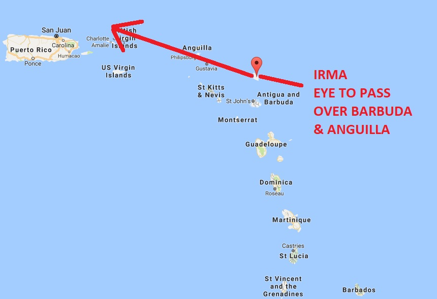 British Virgin Islands Irma Longer Term The Next Stop After The Leewards Appears To Be Per The Gfs Model To Be To The North Of Puerto Rico And Then It