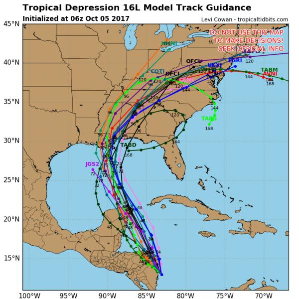 weekend outlook tropical storm nate