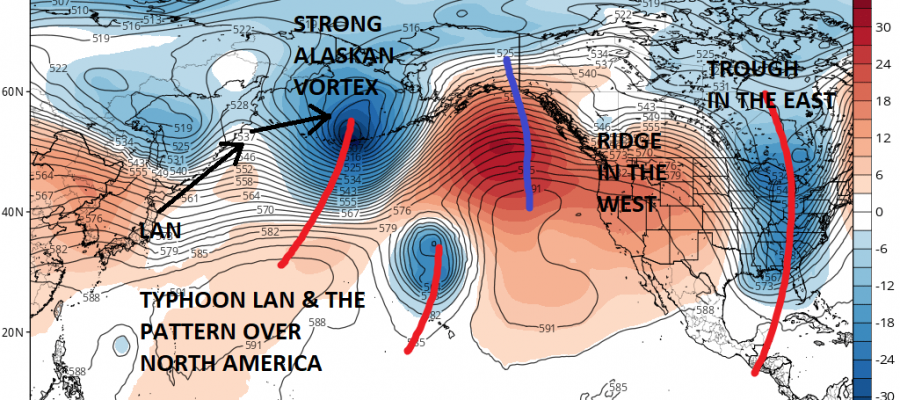 Typhoon Lan Long Range Weather Pattern Eastern US Weather Updates