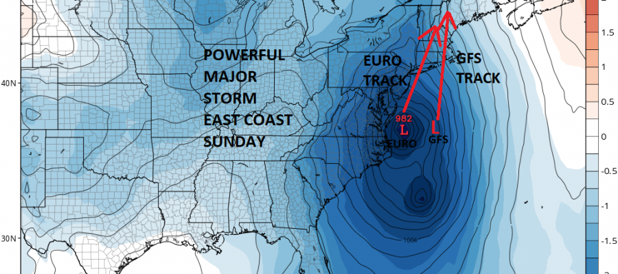 weather models show powerful east coast storm