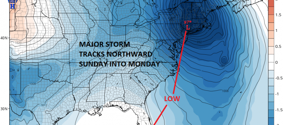 major storm sunday night