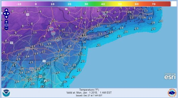 very cold new years eve