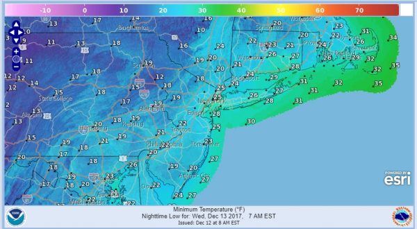 showers colder air