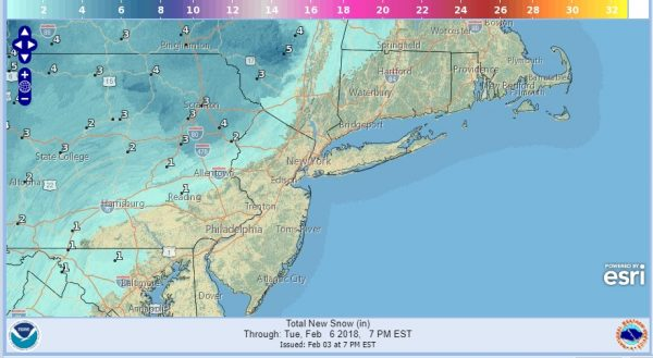 Winter Weather Advisory NE Pennsylvania Catskills