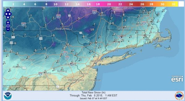 Snow Ice Forecast Wednesday 02072018 National Weather Service