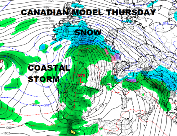 Europe Britain Snow Cold Noreaster East Coast Late Week