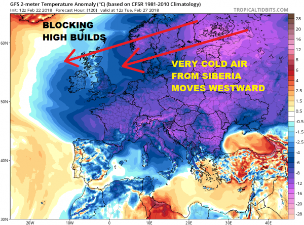 Europe Freezes While Noreaster Possibility Appears Late Next Week