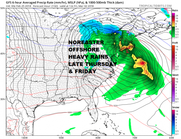 Miserable Sunday Rain Weather Improves Monday Noreaster Late Next Week