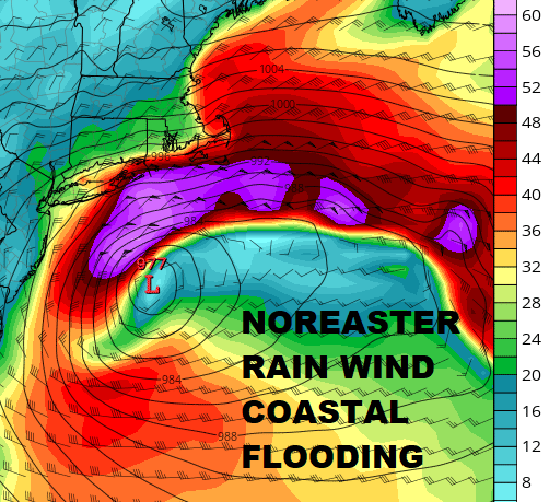 Noreaster Gales Tides Coastal Flooding Late Week