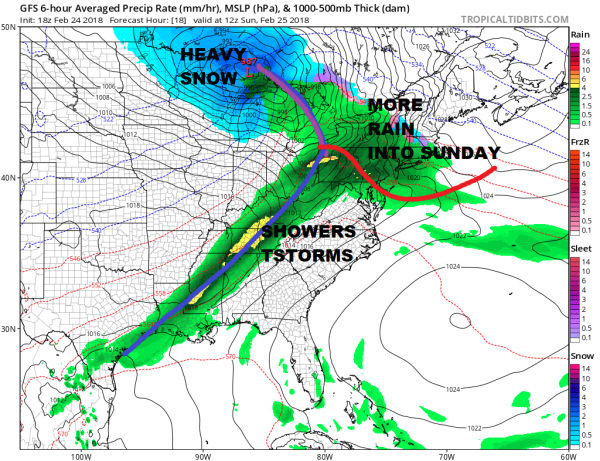 Rain Overnight Into Sunday Afternoon Storm Heads To Great Lakes