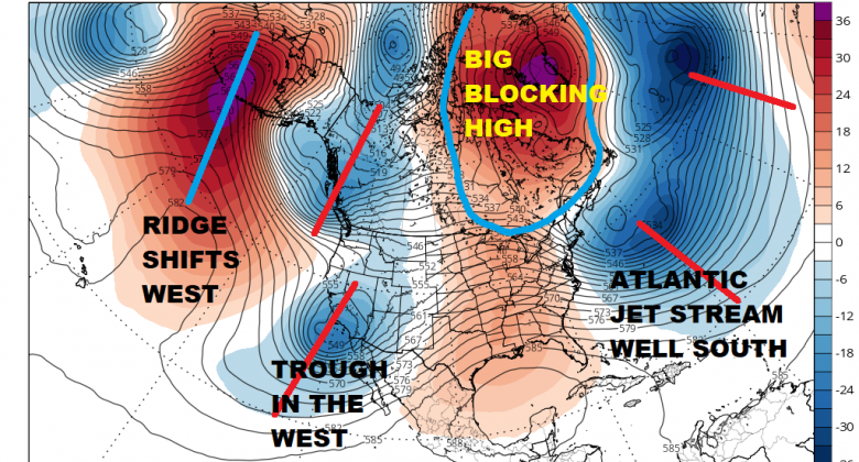Strong Blocking Pattern Develops Late Month Warm Until Then