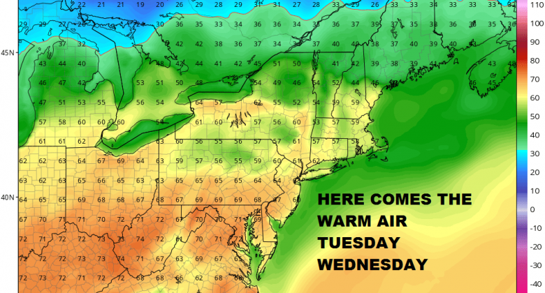 Warm Front Showers Fog Overnight Warm Next 2 Days