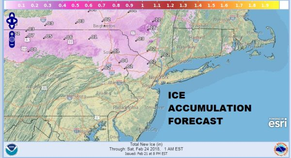 Snow Ice Forecasts Thursday 02212018