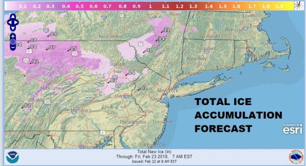 Winter Weather Advisory NE Pennsylvania NW New Jersey Catskills