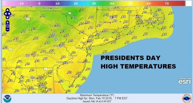 Showers Arrive Ahead of Springlike Weather Tuesday Wednesday